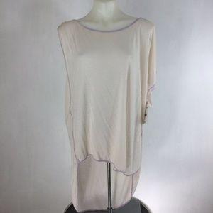 We The Free Linen Blend One Shoulder T-Shirt Top